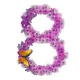 Numeral ou número 8 Foto de Stock