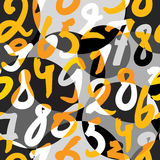 Numeral pattern Royalty Free Stock Image