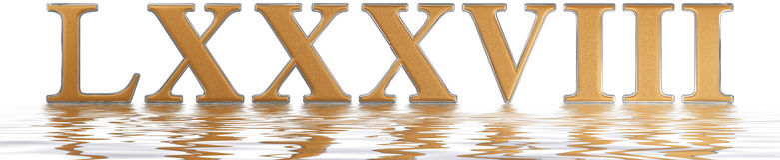 Numeral romano LXXXVIII, octo e octoginta, 88, oitenta e oito, referência Imagens de Stock Royalty Free