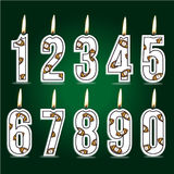 Numeral rugby birthday candles Stock Photos