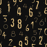 Numeral seamless pattern with glitter sparkle Stock Photography