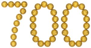 Numeral 700, seven hundred, from decorative balls, isolated on w Royalty Free Stock Images