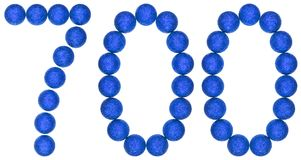 Numeral 700, seven hundred, from decorative balls, isolated on w Stock Images