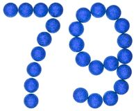 Numeral 79, seventy nine, from decorative balls, isolated on whi Stock Images