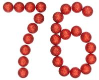 Numeral 76, seventy six, from decorative balls, isolated on whit. E background Stock Photo
