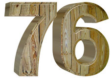 Numeral 76, seventy six,, isolated on white background, 3d rende. R Royalty Free Stock Photography