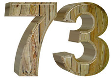 Numeral 73, seventy three, isolated on white background, 3d rend. Er Stock Photos
