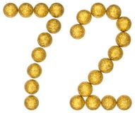 Numeral 72, seventy two, from decorative balls, isolated on whit. E background Royalty Free Stock Image
