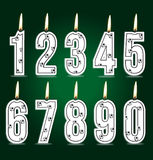 Numeral soccer candles Royalty Free Stock Photos