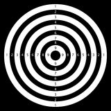 Numeral target. Shooting numeral target  illustration Stock Photos