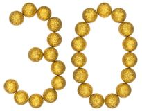Numeral 30, thirty, from decorative balls, isolated on white bac. Kground Stock Photography