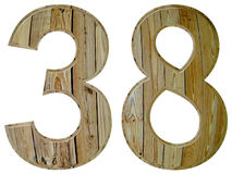 Numeral 38, thirty eight, isolated on white background, 3d rende Royalty Free Stock Images