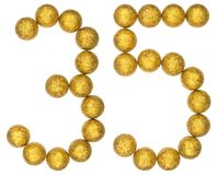 Numeral 35, thirty five, from decorative balls, isolated on whit. E background Stock Image