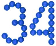 Numeral 34, thirty four, from decorative balls, isolated on whit Stock Image