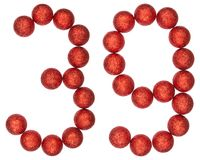 Numeral 39, thirty nine, from decorative balls, isolated on whit Stock Photography
