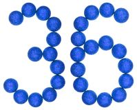 Numeral 36, thirty six, from decorative balls, isolated on white Stock Image