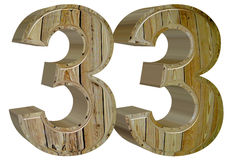 Numeral 33, thirty three, isolated on white background, 3d rende. R royalty free illustration