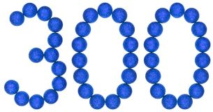 Numeral 300, three hundred, from decorative balls, isolated on w Stock Images