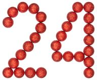 Numeral 24, twenty four, from decorative balls, isolated on whit Royalty Free Stock Photos