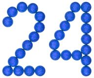 Numeral 24, twenty four, from decorative balls, isolated on whit. E background royalty free stock photos