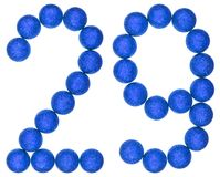 Numeral 29, twenty nine, from decorative balls, isolated on whit Stock Image