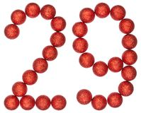 Numeral 29, twenty nine, from decorative balls, isolated on whit Royalty Free Stock Photos