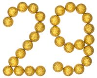 Numeral 29, twenty nine, from decorative balls, isolated on whit. E background Stock Images