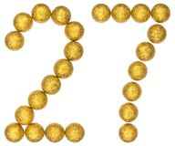 Numeral 27, twenty seven, from decorative balls, isolated on whi. Te background Stock Images