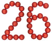 Numeral 26, twenty six, from decorative balls, isolated on white Stock Photo