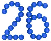 Numeral 26, twenty six, from decorative balls, isolated on white Royalty Free Stock Images