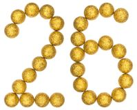 Numeral 26, twenty six, from decorative balls, isolated on white Royalty Free Stock Photo
