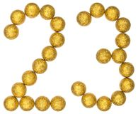 Numeral 23, twenty three, from decorative balls, isolated on whi Stock Photos