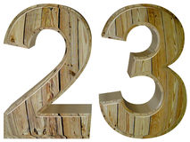 Numeral 23, twenty three, isolated on white background, 3d rende Stock Photography