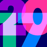 Numeral 2017 in vector Stock Photo