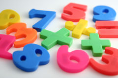Numerals stock image