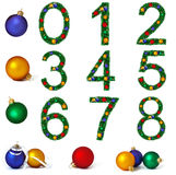 Numerals from christmas decoration Stock Photo