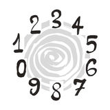 Numerals set. Royalty Free Stock Photos