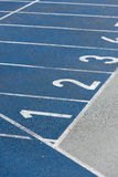 Numeration of running track on olympic stadium Royalty Free Stock Images