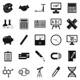 Numerator icons set, simple style Stock Photo
