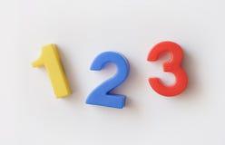 Numere ímãs do refrigerador Imagem de Stock Royalty Free