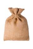 Numere el saco de la arpillera aislado en un fondo blanco con el espacio vacío Imagen de archivo libre de regalías