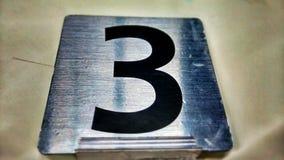 Numere las sillas de playa 3 Fotos de archivo