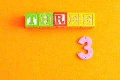 Numere las sillas de playa 3 Imagenes de archivo