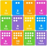 Numere las tarjetas Fotografía de archivo libre de regalías