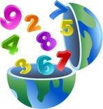 Numere o globo Fotografia de Stock