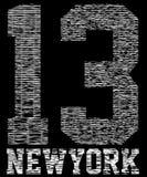 Numere a tipografia, gráficos do t-shirt, vetores, esporte, Fotografia de Stock