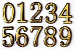Numeri 0 - 9 Fotografie Stock
