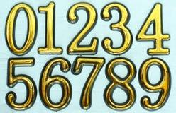 Numeri 0 - 9 Immagini Stock Libere da Diritti