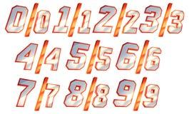 Numeri Fotografia Stock Libera da Diritti