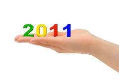Numeri 2011 a disposizione Fotografia Stock
